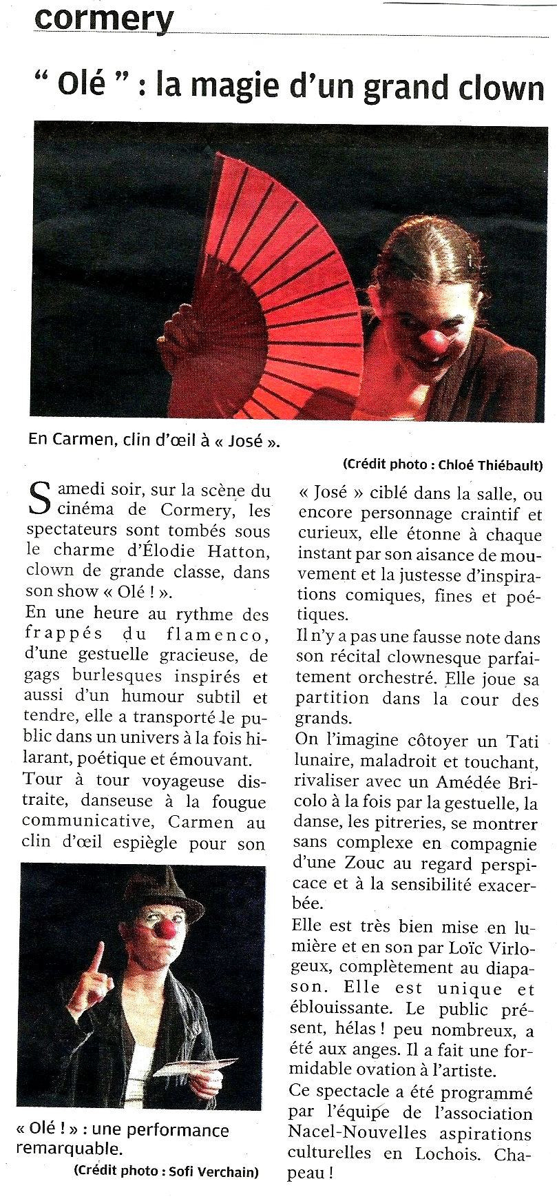 Article Cormery 2018